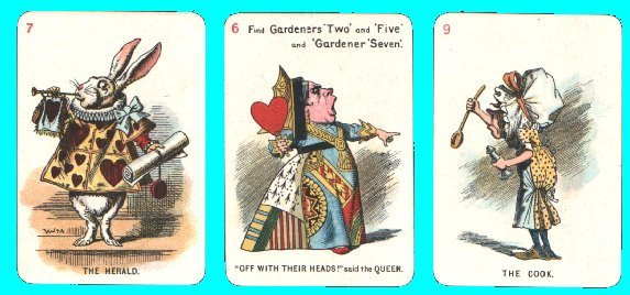 Collectible Vintage Cards Game Alice In Wonderland